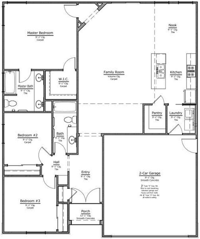 New Home Floor Plan 1560 1652 Blueprint